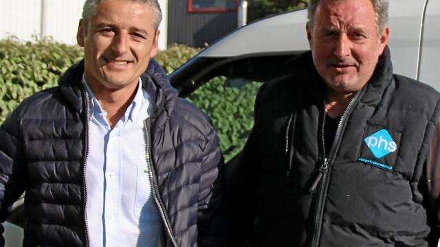 Stéphane Goujon, gérant de Pro hygiène solution et Wilfried Moraux, technicien hygiéniste.